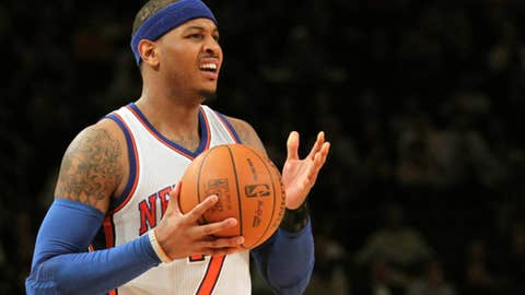 Disappointment: Carmelo Anthony
