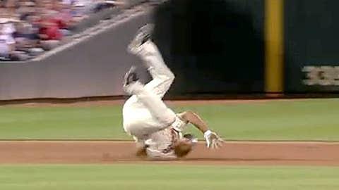 Ben Revere's somersault triple