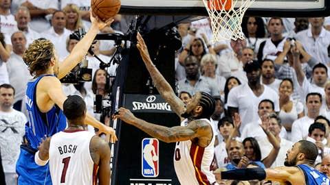 Dirk Nowitzki's game winning layup in the 2011 NBA Finals