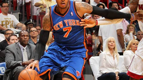 'Melo shows up
