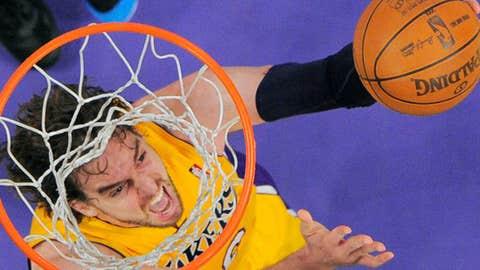 Los Angeles Lakers forward Pau Gasol of Spain
