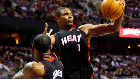 Is Chris Bosh completely healthy?