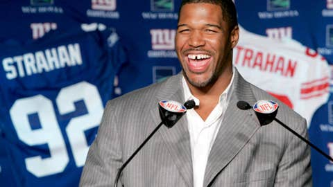 Michael Strahan's gap teeth