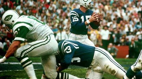 Super Bowl III: Earl Morrall doesn't see wide-open Jimmy Orr