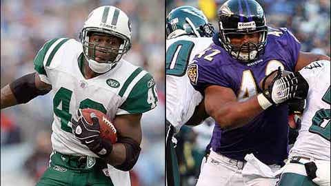(tie) Tony Richardson, Jets FB -- Lorenzo Neal, Raiders FB