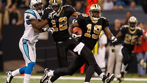 Saints' receiver love for teen numbers