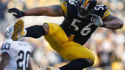 59. LaMarr Woodley, LB, Steelers (2009 Rank: 82)
