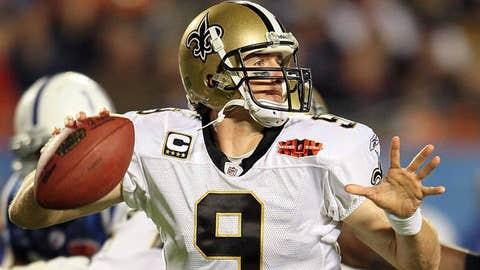 2. Drew Brees, QB, Saints (2009 Rank: 7)