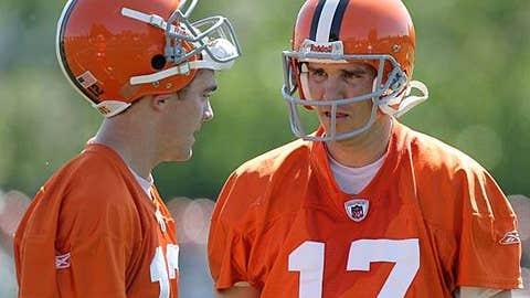 Cleveland Browns (Jake Delhomme - right, Colt McCoy - left)