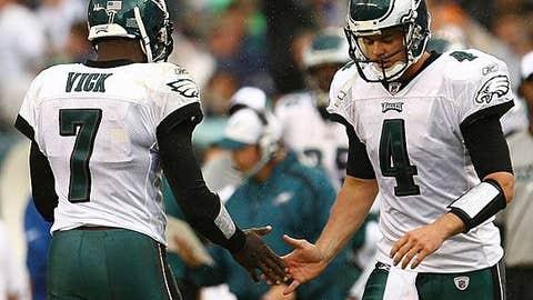 Philadelphia Eagles (Michael Vick - left, Kevin Kolb - right)