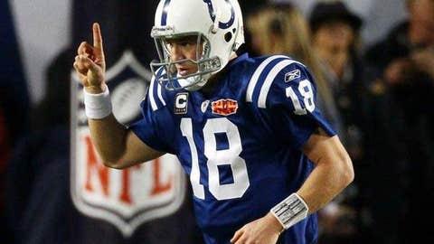 Peyton Manning, No. 18, Indianapolis Colts