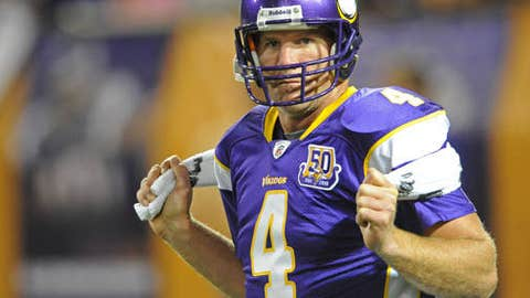 Can Vikings protect Brett Favre and is there still enough magic in his tank?