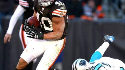 Peyton Hillis: Touchdown run vs. Panthers
