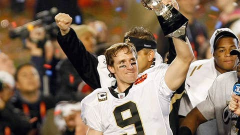 Quarterback Drew Brees #9 of the New Orleans Saints