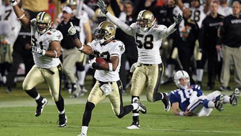 Super Bowl XLIV - Picking Peyton's pocket