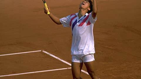 The Slam-winning underhand serve