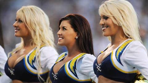 San Diego Chargers cheerleaders (Mandatory Credit: Kyle Terada-US PRESSWIRE)