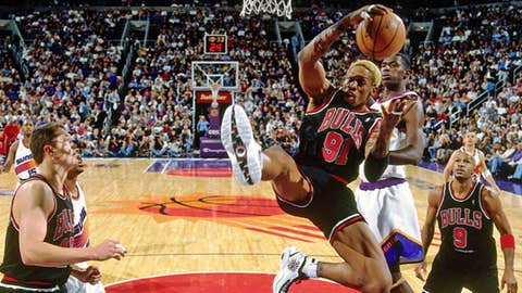 9. Dennis Rodman to Chicago for Will Perdue (1995)