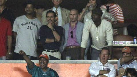 Will Smith, Marc Anthony, Pit Bull and Dwyane Wade