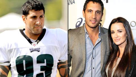 Eagles DE Jason Babin and reality star Mauricio Umansky