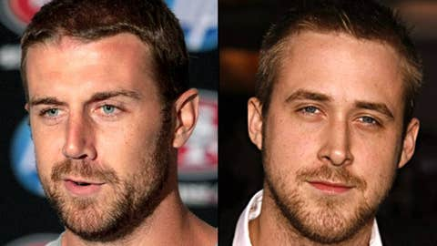 49ers QB Alex Smith and actor Ryan Gosling