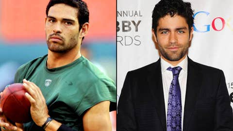 Jets QB Mark Sanchez and actor Adrian Grenier