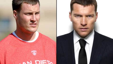 Chargers QB Philip Rivers and actor Sam Worthington