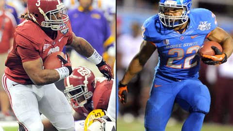 Running backs: Trent Richardson (Alabama) and Doug Martin (Boise State)
