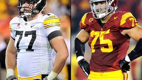 Offensive tackles: Matt Kalil (USC) and Riley Reiff (Iowa)