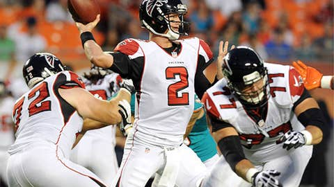 10.If the preseason is any indication, Matt Ryan's going to throw for a million yards in 2012