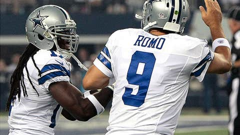 9. Playing without his top three targets, Tony Romo still looks awfully good