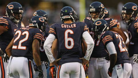 The Bears offensive line