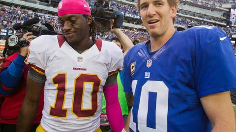 RG3 played valiantly, but Eli's still king of the division