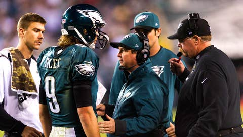 It's the start of the Nick Foles era in Philadelphia. Can he stay upright for four quarters?
