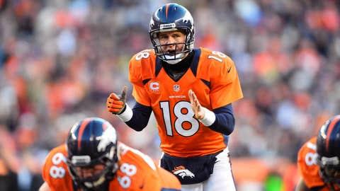 Peyton Manning running one play