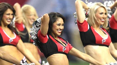 Atlanta Falcons cheerleaders perform