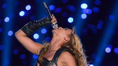 Singer Beyonce performs during the Pepsi Super Bowl XLVII