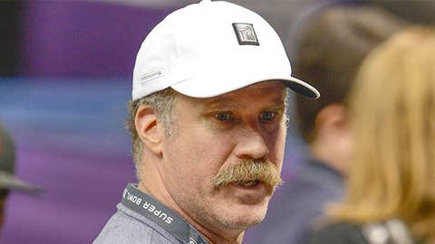 Will Ferrell on the sidelines before Super Bowl XLVII