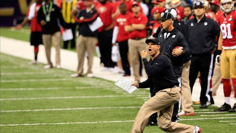 Unhappy Harbaugh