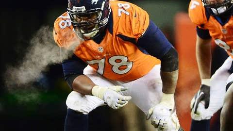Broncos left tackle Ryan Clady