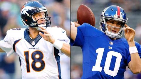 Broncos at Giants, Sept. 15, 4:25 p.m. ET