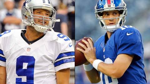 Dallas Cowboys at New York Giants (Sunday, 8:30 p.m. ET, NBC)