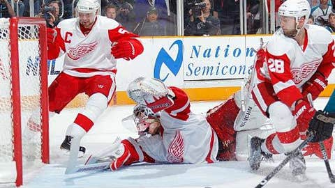 Red Wings in a hole