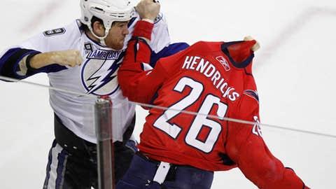 Steve Downie vs. Matt Hendricks