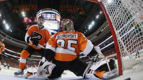 Who will the Flyers put in goal?