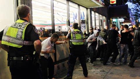 Police fight back