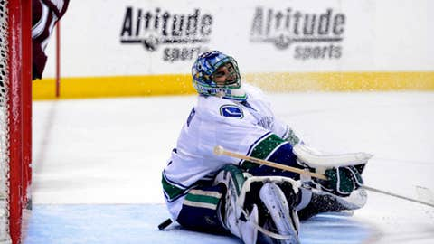 Who will be in crease for Canucks?