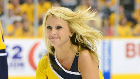 Nashville Predators Ice Girls (Mandatory Credit: Don McPeak-US PRESSWIRE)
