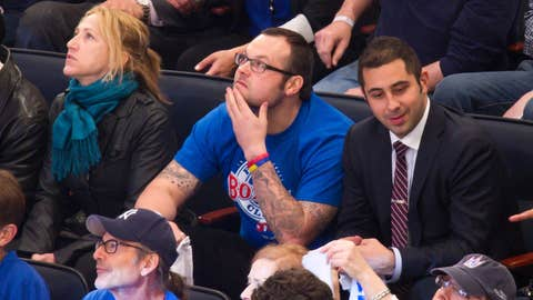 Edie Falco and Joba Chamberlain