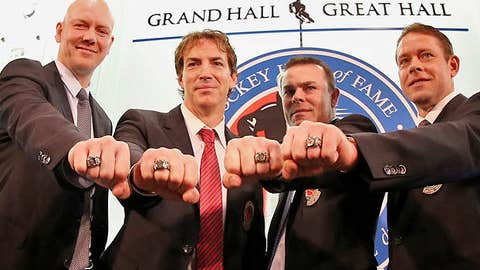 Mats Sundin, Joe Sakic, Adam Oates and Pavel Bure